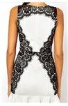 Suknelė su juodais nėriniais