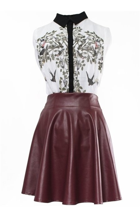 Odos imitacijos sijonas